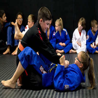 kids training bjj